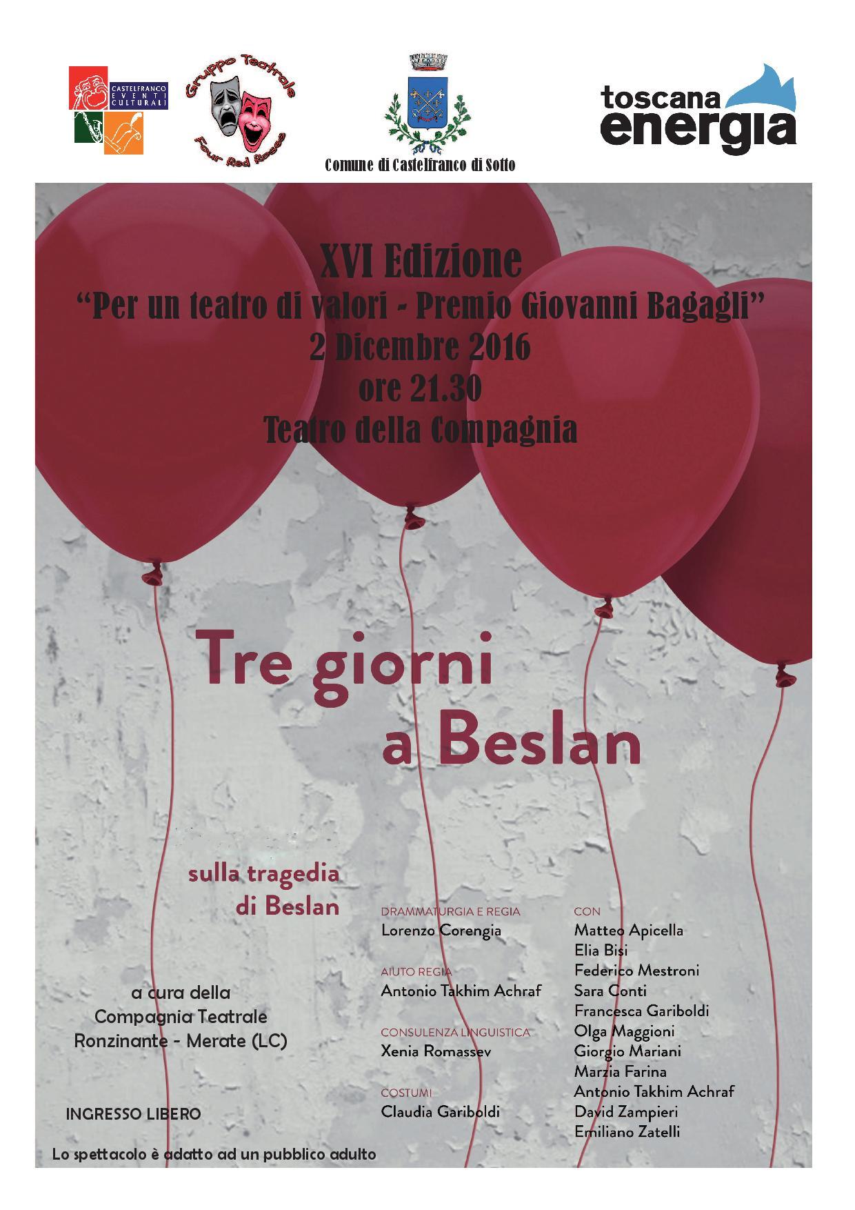 Per un teatro di valori - Premio Giovanni Bagagli - XVI Edizione